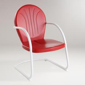 Red Durresi Metal Chair (worldmarket.com, okoli 90 evrov)