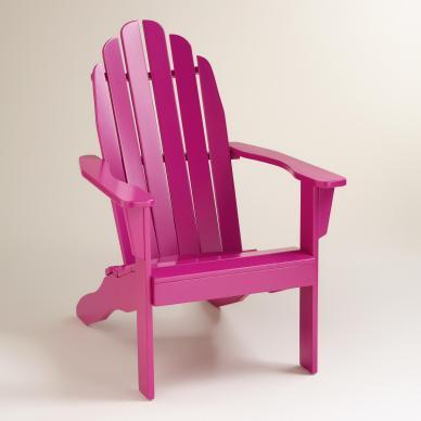 Fuchsia Red Adirondack Chair (worldmarket.com, okoli 150 evrov)