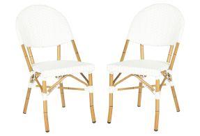 Outdoor White Rivoli Side Chairs, Pair (onekingslane.com, okoli 200 evrov)