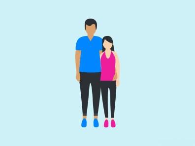 Tudi človekova višina lahko vpliva na privlačnost, še posebno pri moških. A če imajo ženske raje višje moške (občutek varnosti), imajo moški raje nižje ženske.