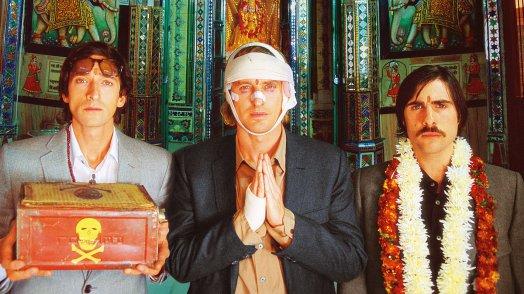 Jack Whitman (Jason Schwartzman), Francis Whitman (Owen Wilson) in Peter L. Whitman (Adrien Brody) v filmu The Darjeeling Limited (Darjeling Limited, 2007)