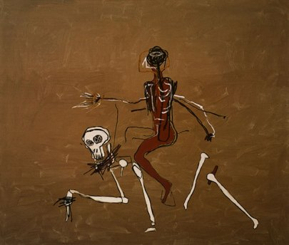 Jean-Michel Basquiat, Riding With Death (1988)