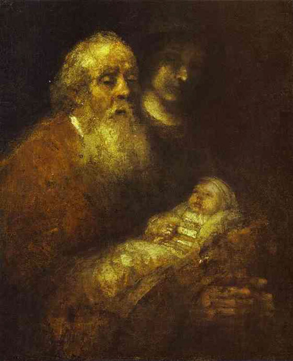 Rembrandt, Simeon With The Christ Child In The Temple, nadokončana (1669)