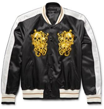 """Souvenir jakne: Alexander McQueen, """"souvenir"""" jakna iz mešanice bombaža, satena in svile, 1.695,00 €"""