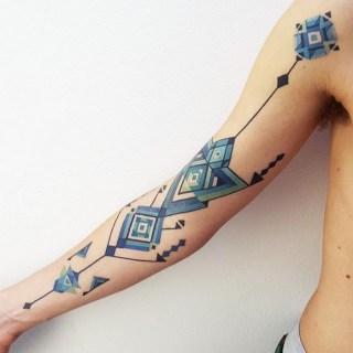 Tatuji, ki so jih navdihnile umetnine južnoameriških plemen.