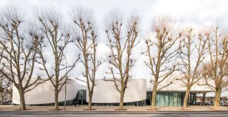 Zgradbo obkrožajo drevesa