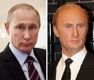 Vladimir Putin v Madame Tussauds v Londonu
