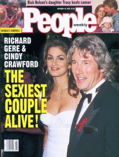 """1993, Richard Gere in Cindy Crawford kot """"najbolj seksi par na svetu"""""""