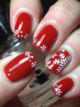 Praznična manikira: najlepši božični nohti