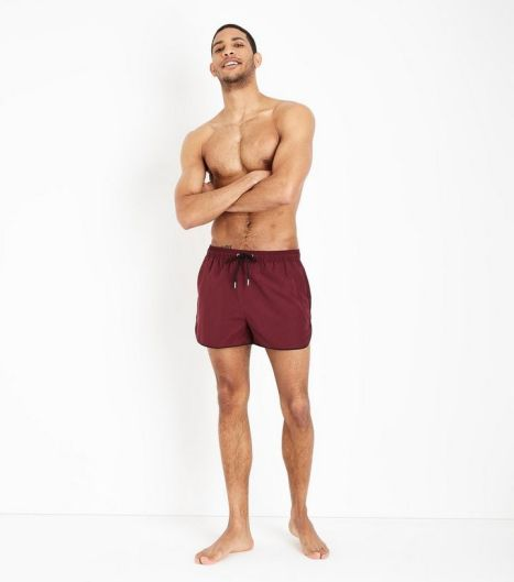 burgundy-swim-shorts