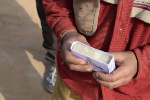 mika soap bars distributed to children in bhatipura village school ,Meerut ,Uttar pradesh 1