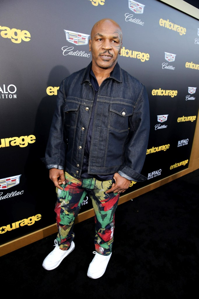 "Mike Tyson seen at Warner Bros. Premiere of ""Entourage"" held at Regency Village Theatre on Monday, June 1, 2015, in Westwood, Calif. (Photo by Eric Charbonneau/Invision for Warner Bros./AP Images)"
