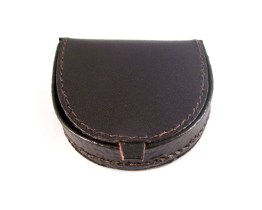 Dark Brown Leather Coin Tray