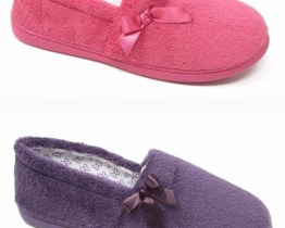 Ladies Washable Towlin Slippers UK Sizes 3-8 Pink Purple