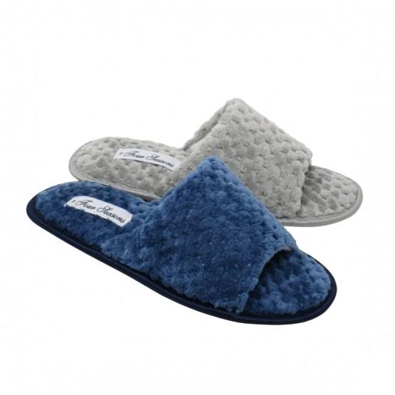 four seasons open toe slippers