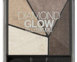 maybelline diamond glow eyeshadow quad coffee drama