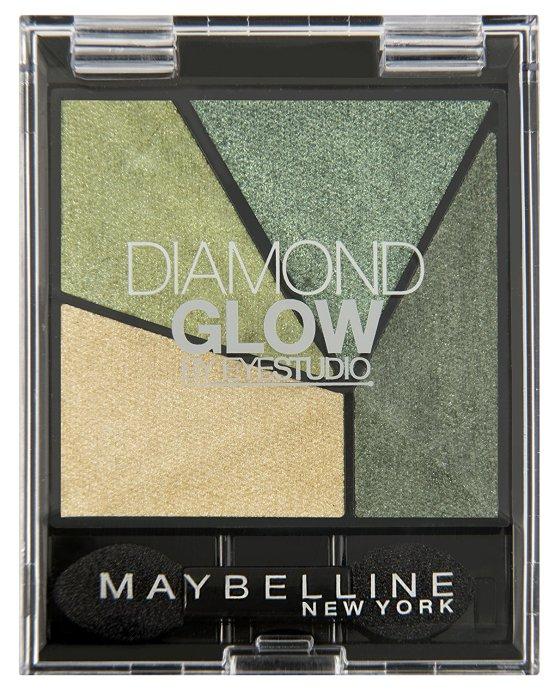 maybelline diamond glow eyeshadow quad forest drama