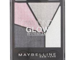 maybelline doamond glow quad eyeshadow grey pink drama