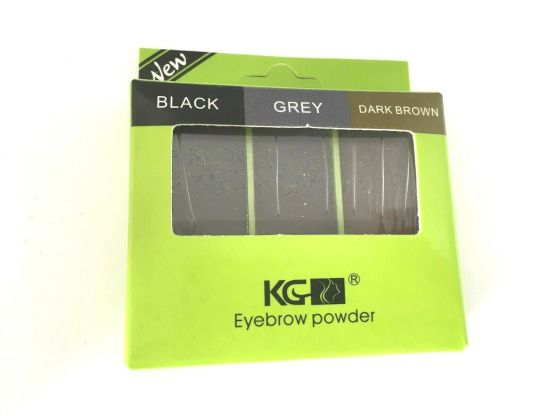 Krazy Girl Eyebrow powder kit Black, grey & dark brown