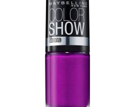Maybelline Color Show Nail Polish Fuchsia Fever 186, Purple Nail Varnish, Neon