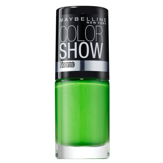 Maybelline Color Show Nail Polish Green Zing 190, Green Nail Varnish, Neon