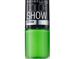 Maybelline Color Show Nail Polish Green Zing 190, Green Nail Varnish, Neon