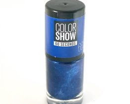 Maybelline Color Show Nail Polish Ocean Blue 661, Blue Glitter Nail Varnish