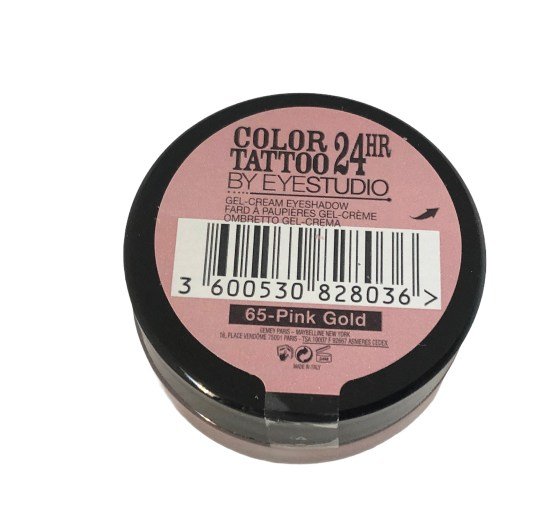 Maybelline Color Tattoo Eyeshadow Pink Gold 65, Pink Shimmer Eyeshadow