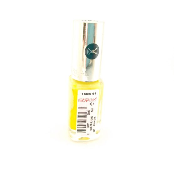 L'Oreal Color Riche Nail Polish Pop Corn 240, Yellow Nail Polish, Varnish