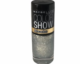 Maybelline Color Show Nail Polish Foil Flash 216, Silver Nail Varnish, Brocades, Glitter, Party, Celebrate