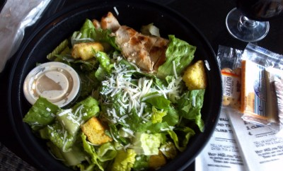 Sam & Harry's Chicken Caeser Salad in the US Air Lounge