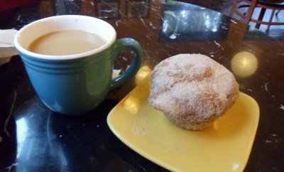 nutmeg donut muffin at Flying Squirrel Bakery
