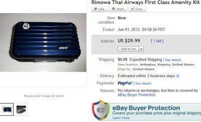 Rimowa Ebay Auction