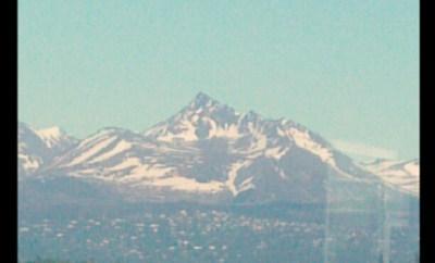 As close as I got to the Alaska Mountains