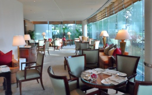 Conrad Hong Kong Peak breakfast lobby lounge
