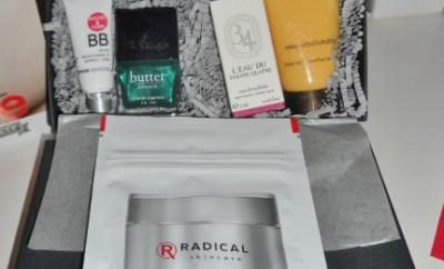 October Sample Society box by Beauty Bar