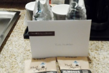 Omni welcome water almonds