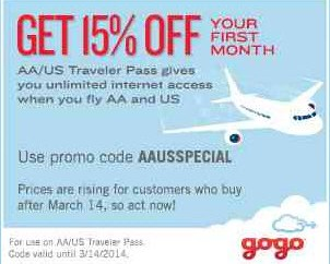 Gogo aausspecial 15 off