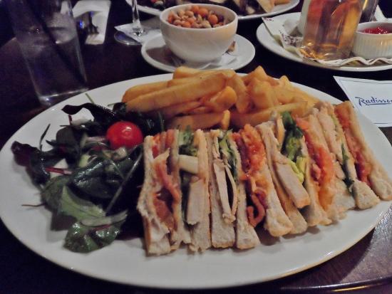 Radisson Blu Limerick Hotel & Spa Quench Bar Club Sandwich