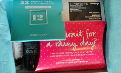 April 2014 Birchbox Contents