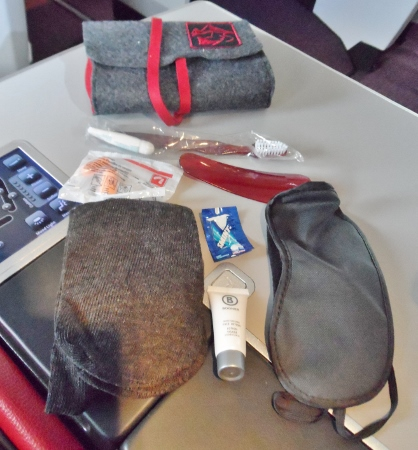 Austrian Airlines Business Class Amenity Kit Contents