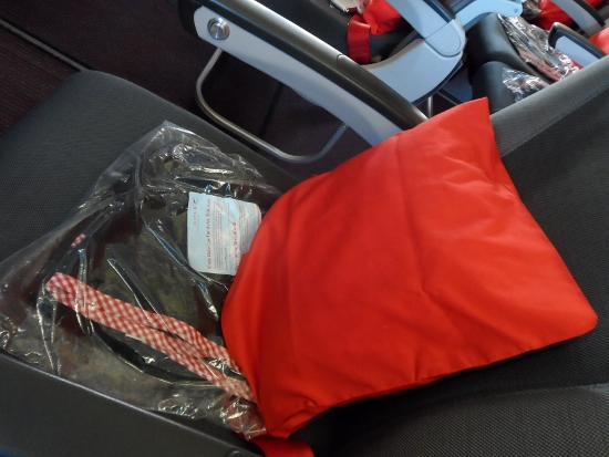 Austrian Airlines pillow blanket economy