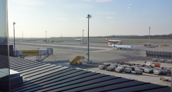 View from Austrian Airlines Senator Lounge Vienna