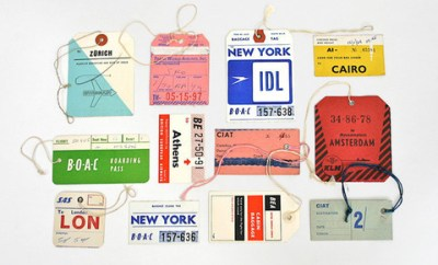 200 x 20 vintage airline tags