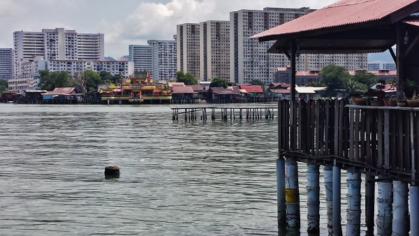Temple view from Chew Jetty Penang Malyasia