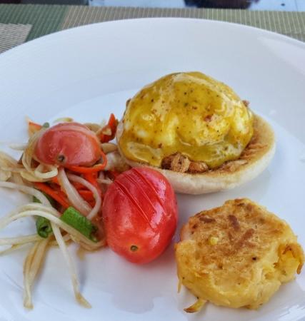 Conrad Koh Samui Breakfast Thai Eggs Benedict