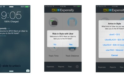 Uber Expensify Smart Rides Tech