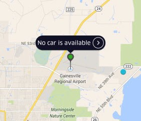 UberX Gainesville No Available Cars