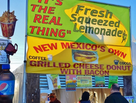 Albuquerque Balloon Fiesta 2014 Grilled Cheese Donut Bacon Stand