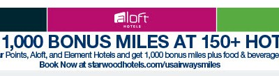 Starwood US Airways Bonus Miles Rate